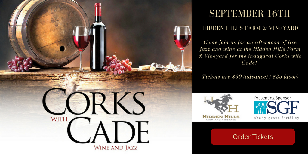 cork with cade wine and jazz event